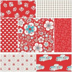 Twice as Nice Fat Quarter Bundle in Red