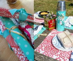 Oilcloth placemats are colorful, durable, and easy to clean!