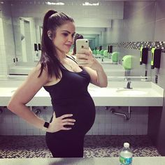 Preggo? No problem... here's my #wednesdayworkout for the day ... Walk interval hills - 25 minutes  Full Body Workout: 3 Rounds rest as needed between 10-15 reps per exercise:  Plié Squat  Good morning  Lunges (knee to ground)  Dips  Military press  One arm row