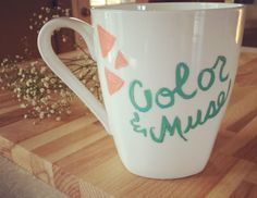 A personal favorite from my Etsy shop https://www.etsy.com/listing/222307193/color-muse-mug