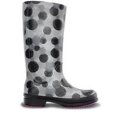 Wellie Polka Dot Rain Boot De La Mujer