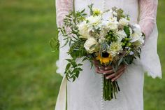 Beautiful bouquet - taken at the Cabin Ridge in Hendersonville, NC Outdoor Wedding Venues, Wedding Events, Event Venues, Bouquet, Cabin, Table Decorations, Bridal, Larry, Flowers