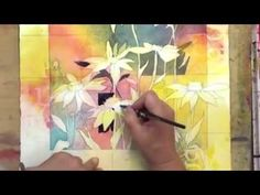 Pop your flower paintings with this watercolor lesson for dark background shapes.