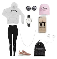 """""""polyvore"""" by jesy-smith on Polyvore featuring mode, Topshop, adidas, MCM, Wood Wood, Daniel Wellington, Steve Madden, Fremada, Casetify et Beats by Dr. Dre"""