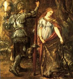 Dorothy Margaret Stuart from The Book of Chivalry and Romance. Doubtless he has just unshackled her and saved her from distress. Medieval World, Medieval Fantasy, Illustrations, Illustration Art, Courtly Love, Legends And Myths, Pre Raphaelite, Historical Art, Victorian Art