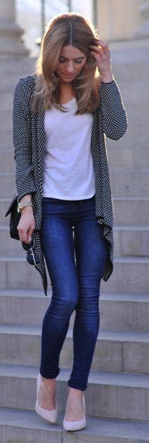 Zara Houndstooth Cardigan by Make Life Easier
