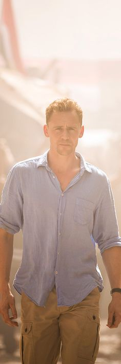 Tom Hiddleston as Jonathan Pine in The Night Manager.   Definitely James Bond material.