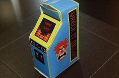 Man Birthday, Birthday Ideas, Wreck It Ralph, Arcade Machine, Favor Boxes, Party Themes, Party Ideas, Arcade Games, Favors