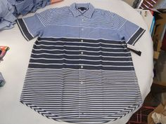 Men's Tommy Hilfiger short sleeve shirt button up 7847890 Azure Blue 506 L #TommyHilfiger #ButtonFront