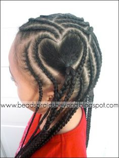 Beads, Braids and Beyond: Cornrows & Hearts - Valentine's Day Style