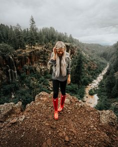 Chasing Monsoon Waterfalls in Williams, Arizona Red Hunter Rain Boots Outfit – Hiking & Camping More from my site Mommy and Me Outfits Cute Hiking Outfit, Trekking Outfit, Boating Outfit, Hiking Outfits, Hiking Boots Outfit, Cute Camping Outfits, Camp Outfits, Boho Outfits, Red Hunter Rain Boots