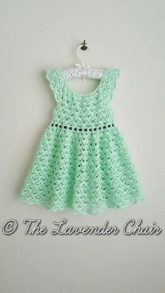 Gemstone Lace Dress Crochet Pattern PDF by TheLavenderChair