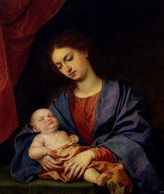 La Virgen con el Niño dormido Alonso Cano (1601-1667) Hacia 1646-1650 Óleo sobre lienzo Patrimonio Nacional, Real Monasterio de San Lorenzo de El Escorial, Madrid