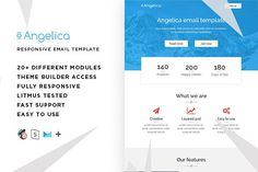 Angeli – Email template + Builder by ThemesCode on @creativemarket