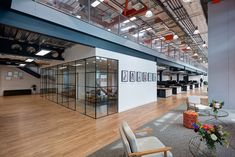 A Tour of MatchesFashion's Cool New London Office New London, East London, Glass Wall Design, Glass Office, Glass Partition, Office Interiors, Design Firms, Workspaces, Happy Monday