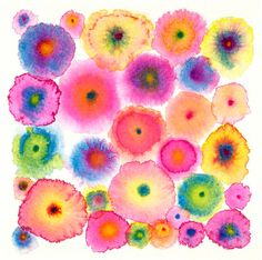 Watercolor droplets- a beautiful way to get the kids to experiment and understand the medium of watercolour.