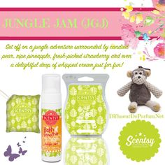 Mollie & Jungle Jam #Scentsy #Monkey Mollie #Kids #Fragrance www.makesscentswright.scentsy.us www.facebook.com/TiffanyYourScentsyLady