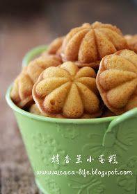 Butter . Flour & Me 爱的心灵之约: 烤香兰小蛋糕