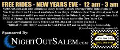 Willamette Valley Yellow Cab - free rides