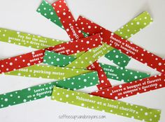 Acts of Kindness Countdown Chain for Christmas! Use as an advent calendar!