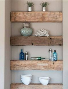 5 Best Clever Tips: How To Build Floating Shelves Products floating shelves living room industrial.Floating Shelves With Drawers Subway Tiles floating shelves with drawers subway tiles.Floating Shelves Nursery Home Office. Rustic Wood Shelving, Timber Shelves, Reclaimed Wood Shelves, Repurposed Wood, Rustic Floating Shelves, Reclaimed Wood Furniture, Salvaged Wood, Barn Wood Shelves, Vintage Shelving