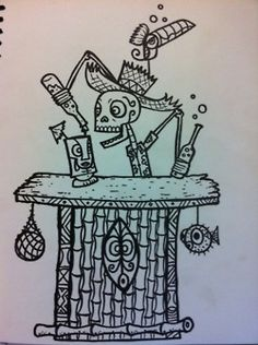Tiki Bar Skeleton