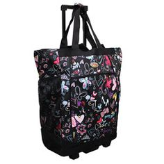 @Overstock - Travel in easy style with this 20-inch rolling shopper tote from Olympia. This durable tote is constructed of rugged supreme polyester.  http://www.overstock.com/Luggage-Bags/Olympia-20-inch-Butterfly-Rolling-Shopper-Tote/6153839/product.html?CID=214117 $29.99