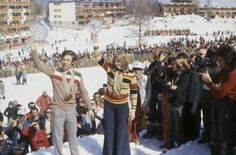 1972 Gustavo Thoeni et Anne-Marie Moser-Proll Golden Hall, Sports Stars, Great Women, Dolores Park, World, Lady, The World