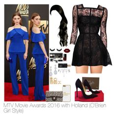 2016 MTV Movie Awards with Holland by myllenna-malik on Polyvore featuring polyvore moda style Forever 21 Christian Louboutin Chanel New Look BaubleBar Bobbi Brown Cosmetics Lime Crime Alaïa Elie Saab fashion clothing TeenWolf HollandRoden