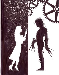 art, drawing, edward, love, scissorhands