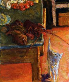 Pierre Bonnard - The Bouillabaisse.Very to the point for the moment. My cat just  attacked fish I was cooking.