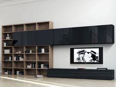 Living Room Wall Units, Ikea Living Room, Living Room Shelves, Living Room Tv, Living Room Designs, Living Room Furniture, Lcd Panel Design, Long Room, Muebles Living