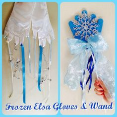 DIY craft: Frozen Elsa Gloves and Wand
