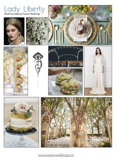 Libery and Art Deco ideas for your wedding Tuscan Wedding, Wedding Mood Board, Mood Boards, Liberty, Art Deco, Table Decorations, Lady, Ideas, Political Freedom