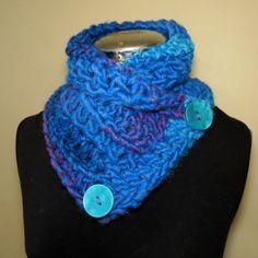 #Farbbberatung #Stilberatung #Farbenreich mit www.farben-reich.com NECK WARMER crochet cowl scarf wool blended von GnarlyKnitsGroup