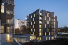 The project for 66 social housing units and retail units, in two six-storey…