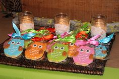 "Photo 1 of Owl / Birthday ""Night Owl Slumber Party"" Owl Themed Parties, Owl Parties, Owl Birthday Parties, Slumber Parties, Girl Birthday, Birthday Ideas, Owl Party Food, Theme Anchor Charts, Biscuits"