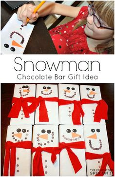 Snowman Candy Bar Gi