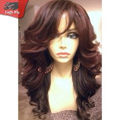 Full Lace Human Hair Wigs with Bangs Brazilian Super Wave Lace Front Wigs Natural Color Full Lace Wigs for Black Women Cheap