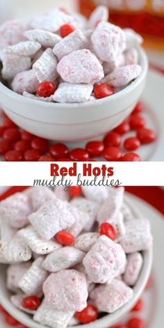 This Red Hots Muddy Buddies Recipe is perfect for Valentine's Day!