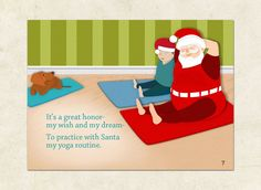 Santa's Christmas Routine Yoga eBook on Behance Printable Gift Cards, Yoga Quotes, Yoga Routine, My Yoga, Santa Christmas, Namaste, My Dream, Behance, Posts