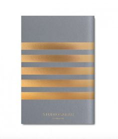POCKET STRIPE NOTEBOOK £6   Adorned with chic gold stripes, in pretty pastels, the Pocket Stripe collection come in a handy pocket size, ideal for making notes on the go.