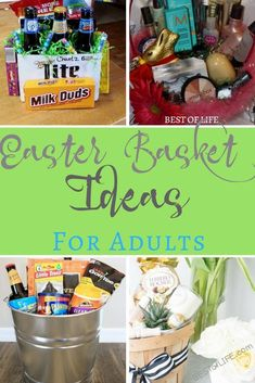 Adult easter basket holidays pinterest easter baskets easter adults want baskets too so help the easter bunny come up with some impressive easter basket ideas for adults that they will love adult easter basket ideas negle Choice Image
