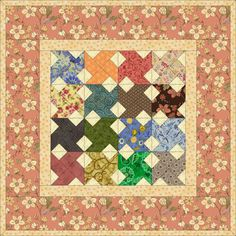 Try This Miniature Whirlwind Quilt Pattern if You Love Paper Piecing: Make a Paper Pieced Miniature Whirlwind Quilt