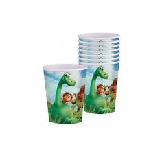 One 8 count package of 9 ounce The Good Dinosaur Cups. Pour everyone a cup of Prehistoric Punch in these cheerful The Good Dinosaur Cups. Dinosaur Party Supplies, Baby Shower Party Supplies, Baby Shower Parties, Kids Party Themes, Kid Party Favors, Party Cups, Online Party Supplies, Kids Party Supplies, Wpc Decking