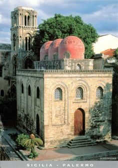 "ITALY (Sicily) - Church of San Cataldo in Palermo - part of ""Arab-Norman Palermo and the cathedral churches of Cefalù and Monreale"" (UNESCO WHS)."