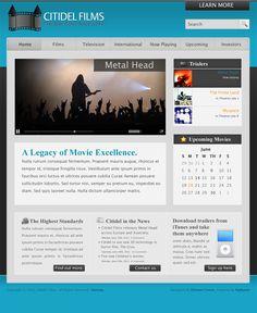 FREE Modern Bright Blue Style Website Template by: testamentdesign.com