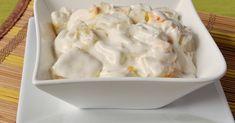 Ez a hamis krémtúrós recept eddig senkinek nem okozott csalódást Salad Recipes, Macaroni And Cheese, Food And Drink, Soup, Chicken, Cooking, Ethnic Recipes, Desserts, Diet