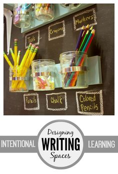 Designing Writing Spaces | Simple Ideas for being intentional with your space for children. Beautiful Writing Area!