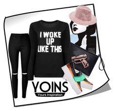 """Yoins sweatshirt"" by irinavsl ❤ liked on Polyvore featuring yoins"